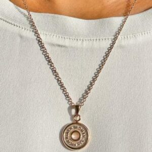 """Rich Black Woman Couture """"Rose Gold Crypto Coin"""" Signature Necklace"""